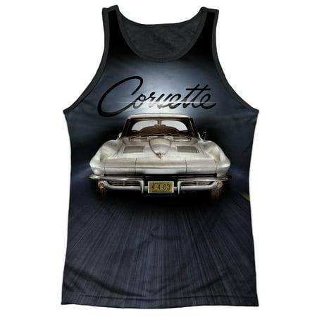 Chevy Corvette Fuel Tank (Chevrolet Autos Chevy 1963 Corvette Classic Car Adult Black Back Tank Top Shirt )