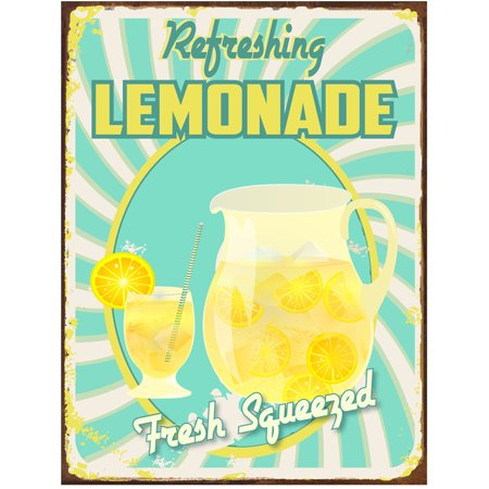 Fresh Squeezed Lemonade Metal Sign](Lemonade Signs)