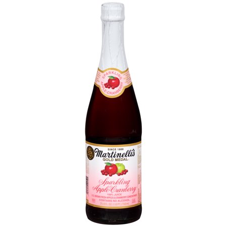 Martinelli's Gold Medal Sparkling 100% Juice, Apple Cranberry, 25.4 Fl Oz, 1 Count