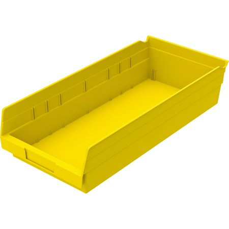 Akro-Mils, Economical Storage Shelf Bins, 1 Each, Yellow