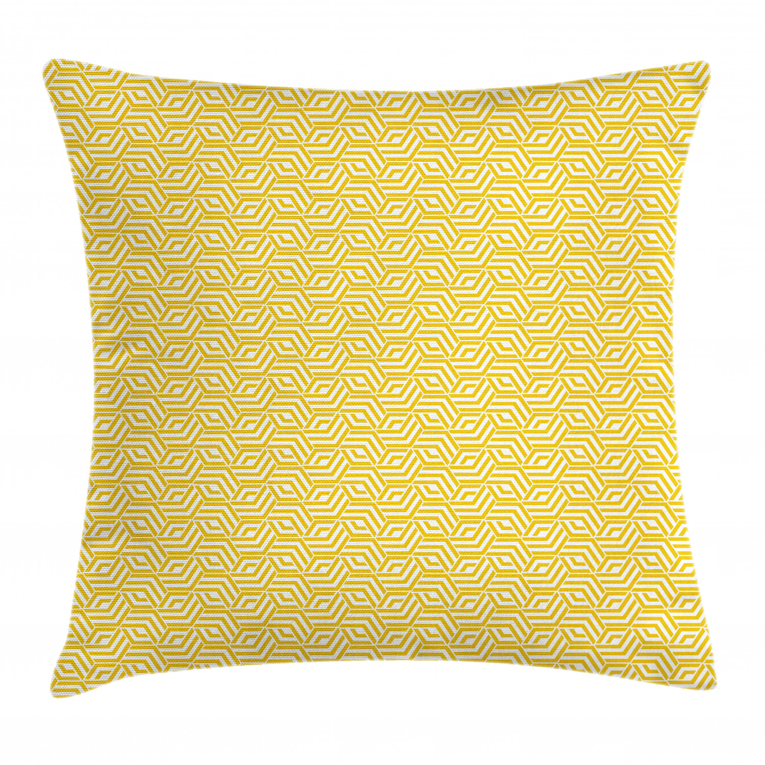 Lattice Throw Pillow Cushion Cover Hexagon Shapes With Yellow Chevron Lines Simple Graphic Tiling Composition Decorative Square Accent Pillow Case 24 X 24 Yellow And White By Ambesonne Walmart Com Walmart Com