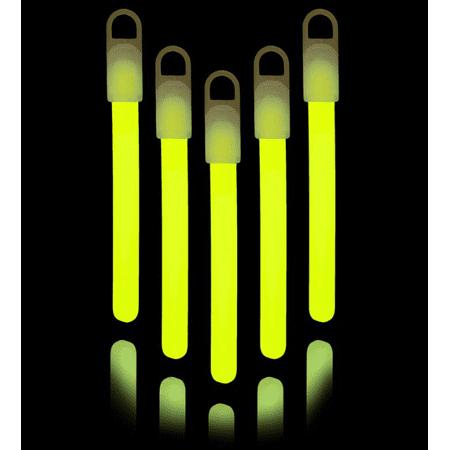 "Lumistick 4"" Glow Sticks, Yellow, 25 ct"