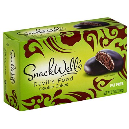 SnackWell's Devil's Food Cookie Cakes, 6.75 oz, (Pack of 12) - Halloween Cookie Cakes