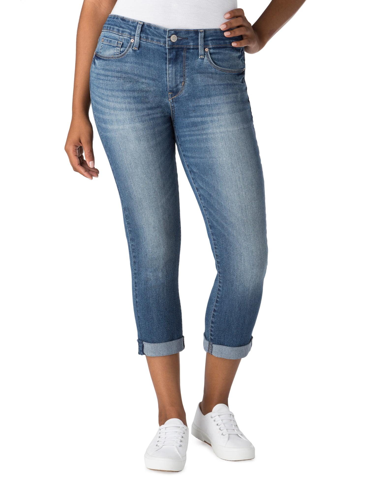 Women's Simply Stretch Modern Slim Cuffed Capri Jeans