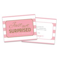 Personalized Striped Gold Faux Glitter Will You Be My Bridesmaid Invitation