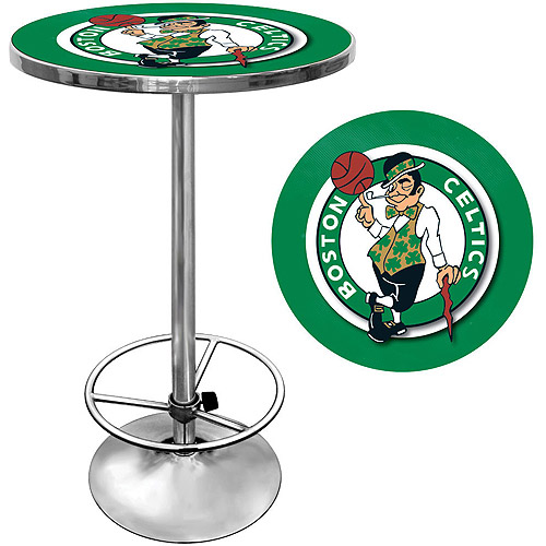 "Trademark NBA Boston Celtics 42"" Pub Table, Chrome"