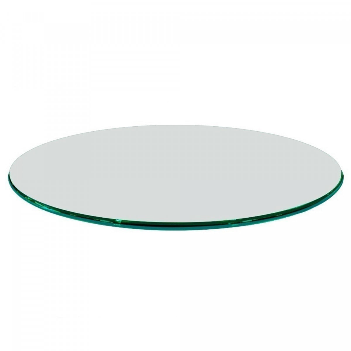 48 Inch Round Glass Table Top 3 4 Inch Thick Clear Tempered Glass With Ogee Edge Polished Walmart Com Walmart Com