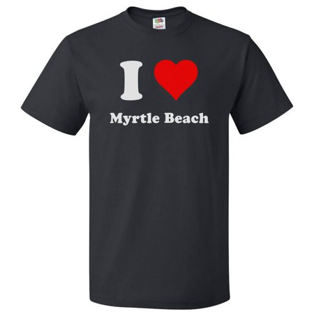 I Heart Myrtle Beach T-shirt - I Love Myrtle Beach Tee Gift ()