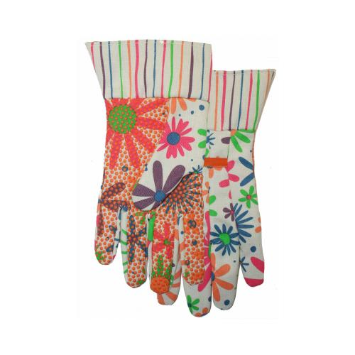 Canvas Dot Gardening Gloves, Women's, Midwest, 510F6