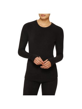 ClimateRight by Cuddl Duds Women's and Women's Plus Stretch Fleece Warm Long Underwear Top