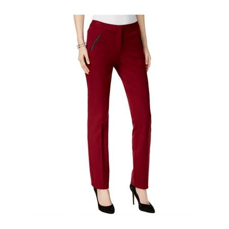 Satin Trim Tuxedo Trousers - Alfani Womens Faux-Leather-Trim Casual Trousers