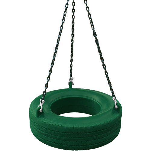 Gorilla Playsets 360° Turbo Tire Swing with Chains - Green