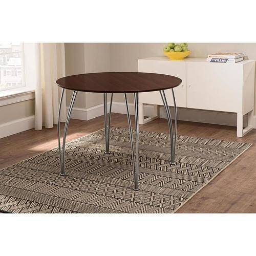 Shell Bentwood Round Dining Table, Espresso