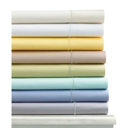 Martha Stewart Collection 300 Thread Count King Flat Sheet Green Bedding