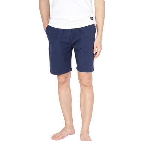 SAYFUT Mens Cotton Drawstring Shorts Summer Beach Shorts Casual Classic Fit Short Blue 2XL-5XL