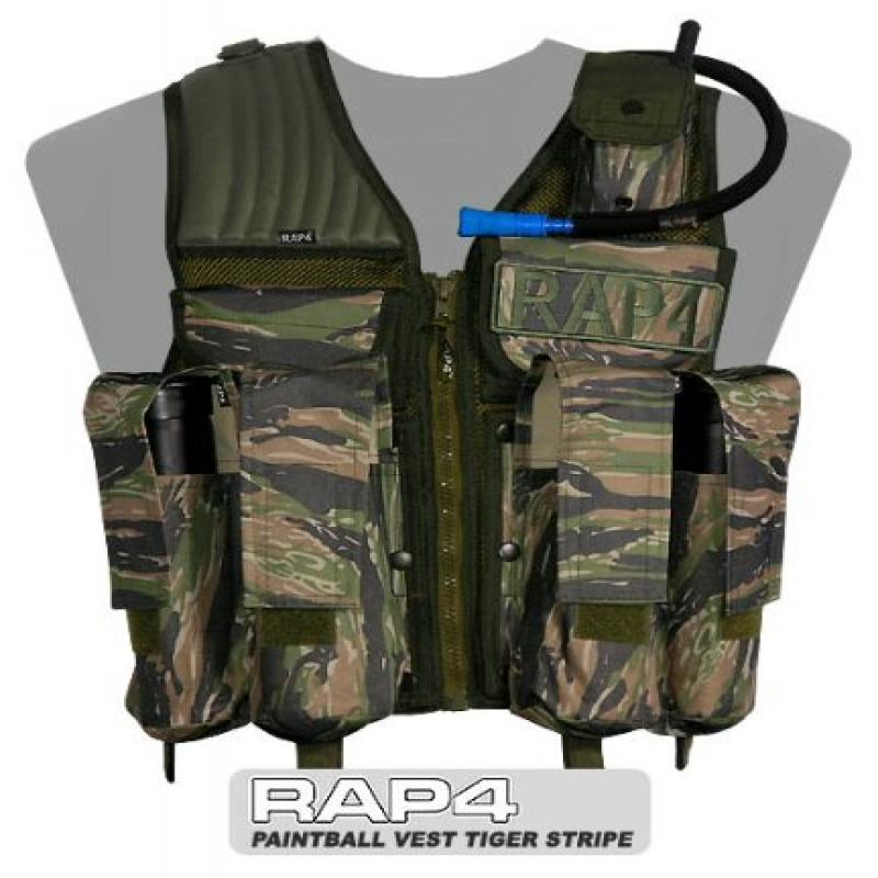 Paintball Vest (Tiger Stripe) - Large size - paintball ch...