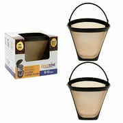GoldTone Brand Reusable 4 Cone replaces your Ninja Coffee Filter for Ninja Coffee Bar Brewer - BPA Free - Made in USA [2 PACK]