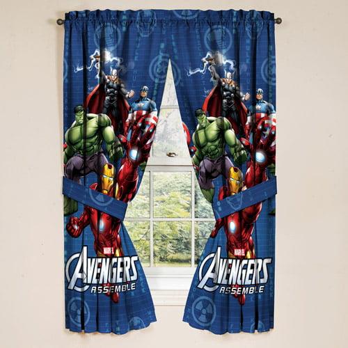 Avengers Boys Bedroom Curtains, Set of 2 - Walmart.com