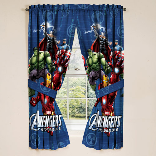 Avengers Boys Bedroom Curtains, Set Of 2