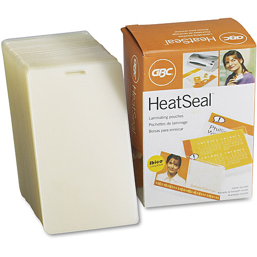 GBC HeatSeal LongLife Luggage Tag Laminating Pouches, 10 mil, 2-1/2 x 4-1/4, 100/Box