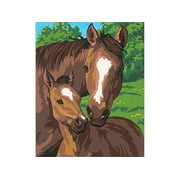 "Paintworks 8"" x 10"" Pony & Mother Paint By Number, 1 Each"