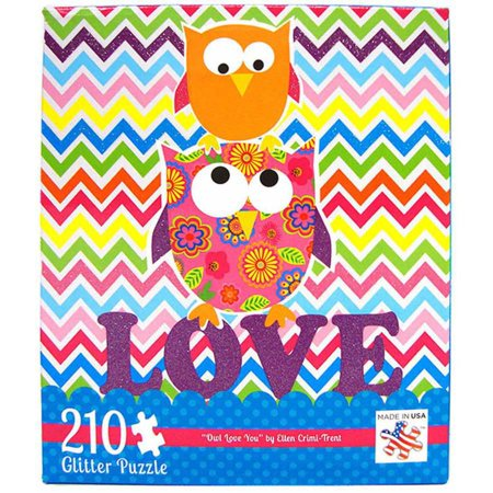 Andrews+Blaine 210-Piece Owl Love You Glitter Puzzle