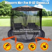 Strong Camel Mosquito Net for 9' or 10' Patio Umbrella Set Screen House Black Bug Insect Net