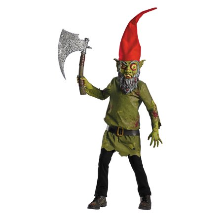 Evil Gnome Child Halloween Costume - Gnome On A Toadstool Costume