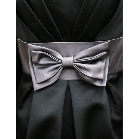Canvas Print Knot Couture Pleated Bow Fashion Dress Satin Stretched Canvas 10 x 14