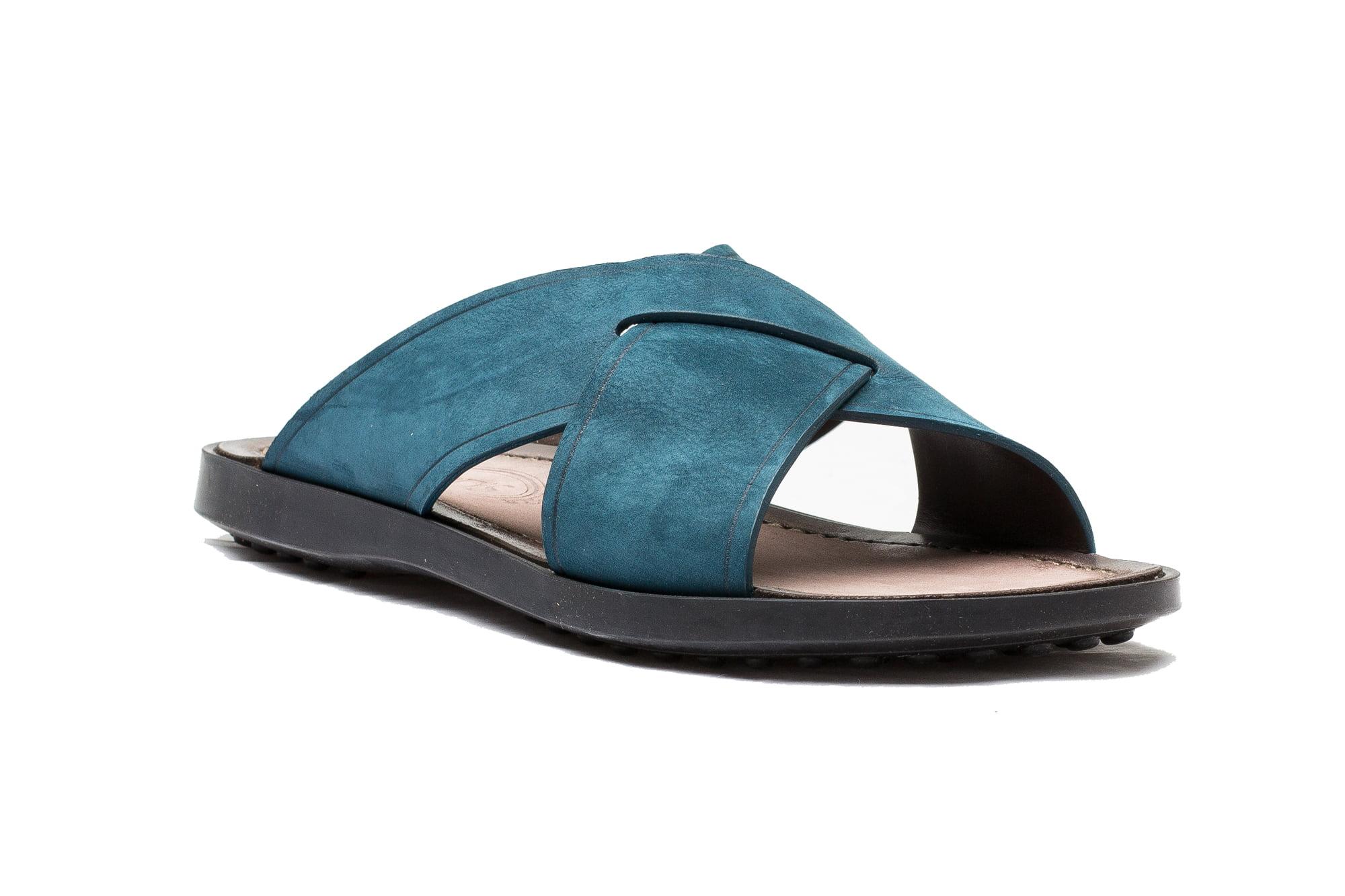 Tod\'s Men\'s Suede Ciabatta Sottopiede Cuoio Fondo Nu Sandal Shoes ...
