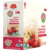 Earth's Best Organic Stage 2, Banana, Raspberry & Brown Rice, 4.2 Ounce Pouch (Pack of 6)