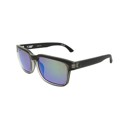 Spy Sunglasses 673520102356 Helm 2 Scratch Resistant Lenses Square Shape, Matte Black Ice ()