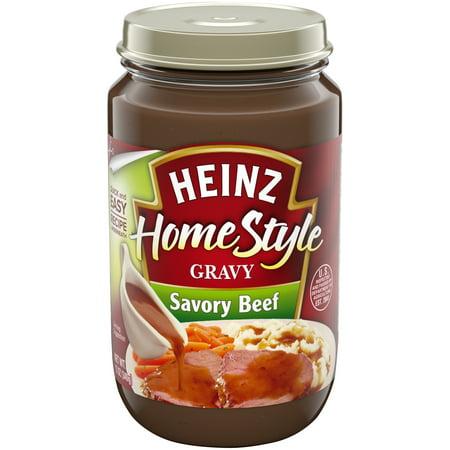 (2 pack) Heinz Home-Style Savory Beef Gravy, 12 oz (Best Roast Beef Gravy)