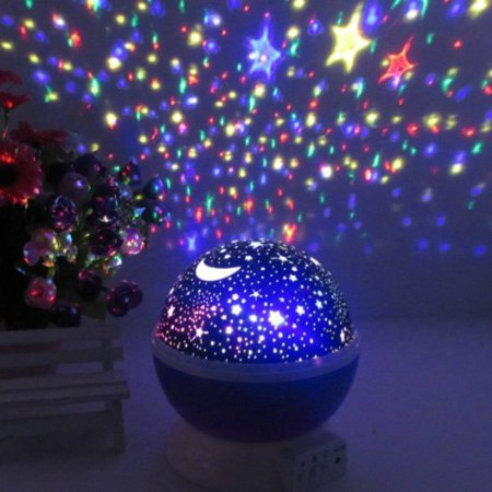 Constellation Night Light Projector Lamp from Peachy Nights offers 4 Bright Colors with 360 Degree Moon Star Projection and Rotation - Kids Baby Bedroom Nursery Decor, Great Gift Idea