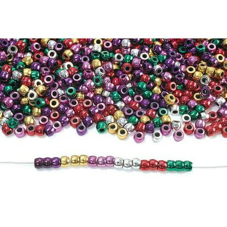 Colorations Metallic Pony Beads - 1 lb. (Item # PONYMET)