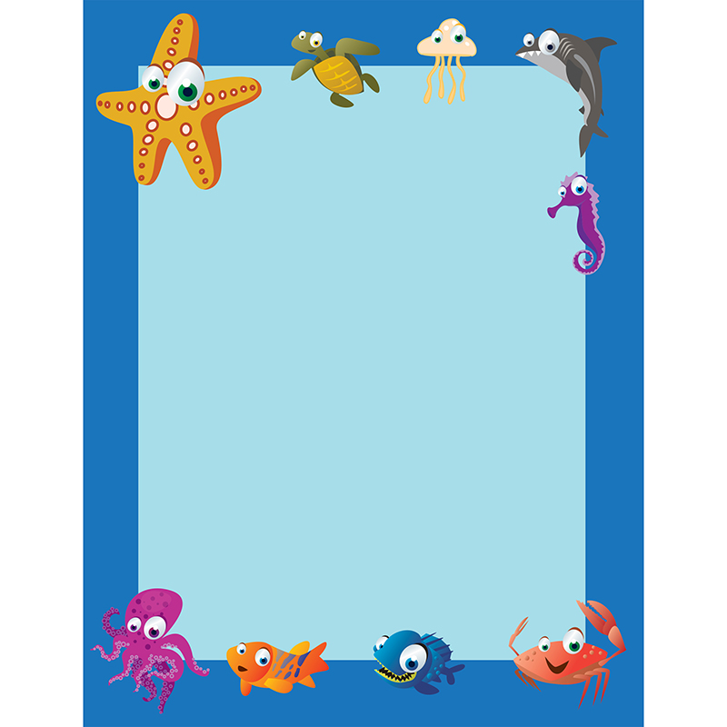 UNDER THE SEA BORDER PAPER 50 PK