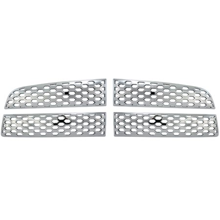 Bully GI-74 Triple Chrome Plated ABS Snap-in Imposter Grille Overlay, 4 Piece