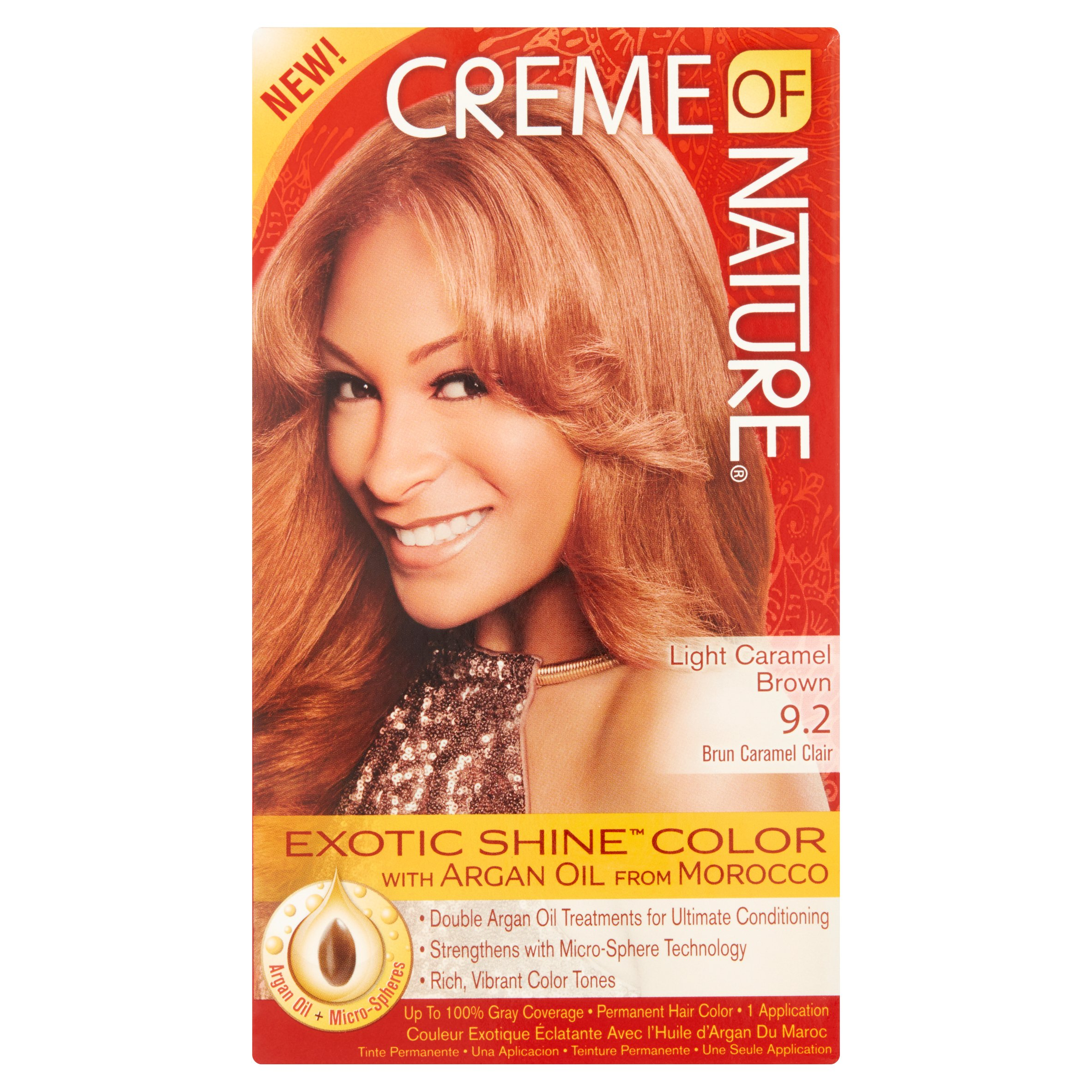 Creme Of Nature Light Caramel Brown 92 Brun Caramel Clair Permanent
