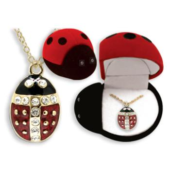 Ddi Ladybug Animal Necklace In Ladybug Box (pack Of 24)
