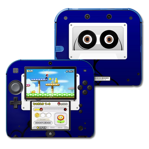 Skin Decal Wrap for Nintendo 2DS sticker Cassette Head