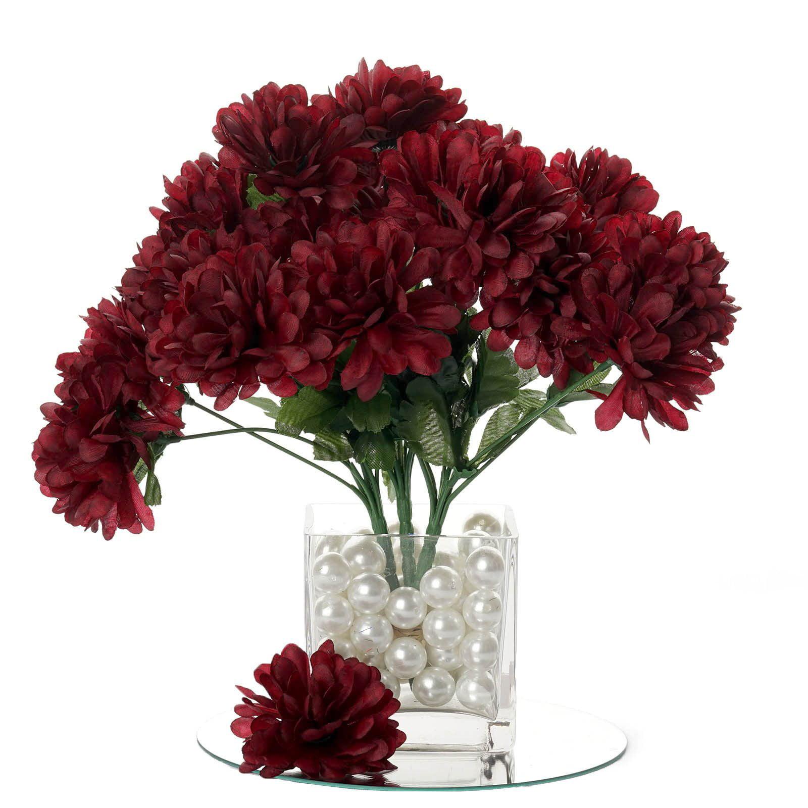BalsaCircle 84 Chrysanthemum Mums Balls Silk Flowers - DIY Home Wedding Party Artificial Bouquets Arrangements Centerpieces