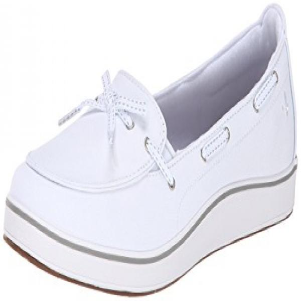 Grasshoppers Women's Windham Slip-On, White, 8 M US by