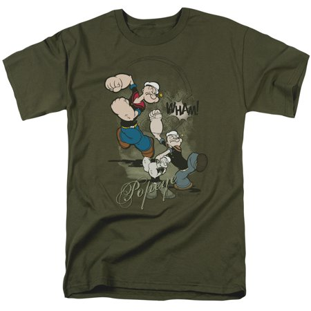 Popeye Three Part Punch   S S Adult 18 1   Military Green   2X