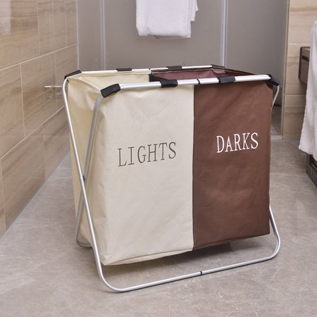 Ktaxon Foldable Laundry Hamper Basket Washing Dirty Bag Clothes Bin Sorter Toy Storage Light Dark