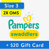 Buy 2, Get $20 Gift Card: Pampers Swaddlers Diapers, OMS Pack (Choose Your Size)