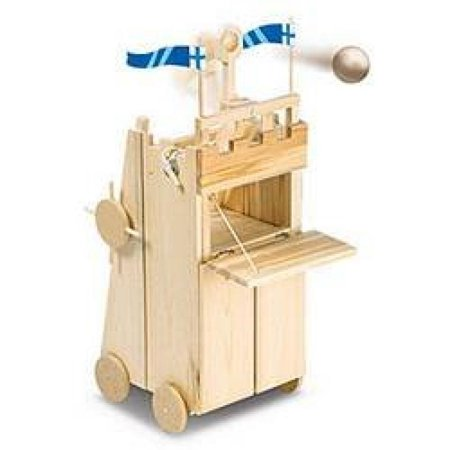 Pathfinders Medieval Siege Tower with Catapult Wooden Kit