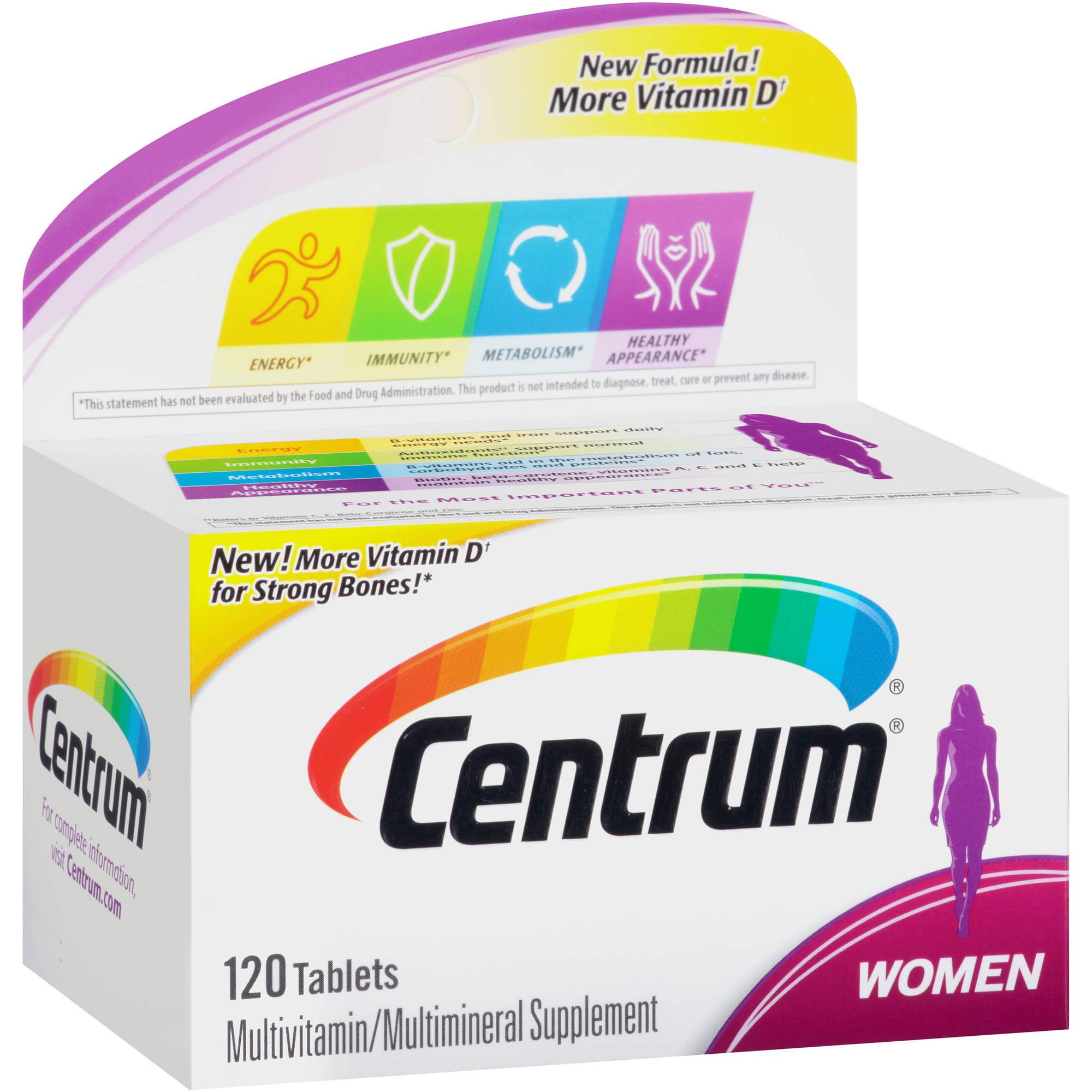 Centrum Women Multivitamin/Multimineral Supplement Tablets 120 Count