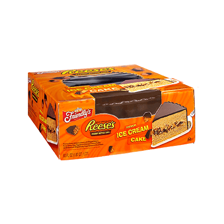 Friendlys Reeses Peanut Butter Cups Premium Ice Cream Cake 60oz