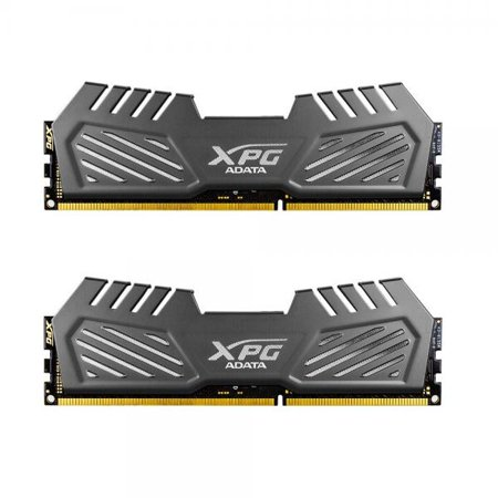 Adata Xpg V2 Ddr3 1600Mhz  Pc3 12800  8Gb 4Gbx2  Memory Modules  Tungsten Grey  Ax3u1600w4g9 Dmv