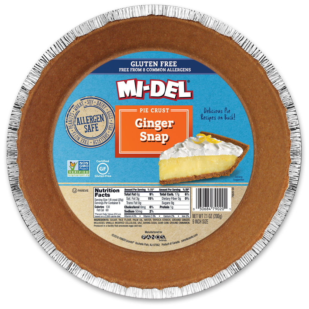 Mi-Del Ginger Snap Pie Crust, 7.1 oz, (Pack of 12)